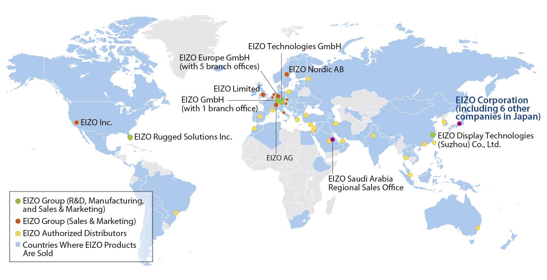 Group companies and distributors