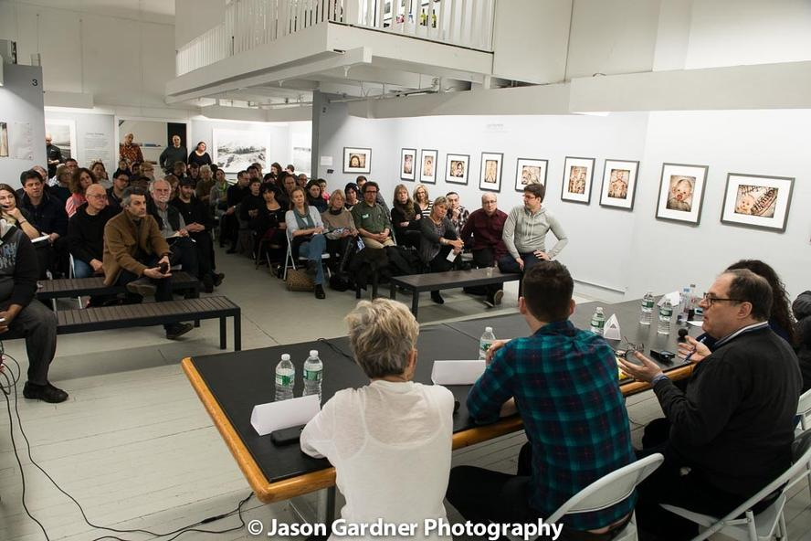 Panel discussions take place on relevant topics in photography.