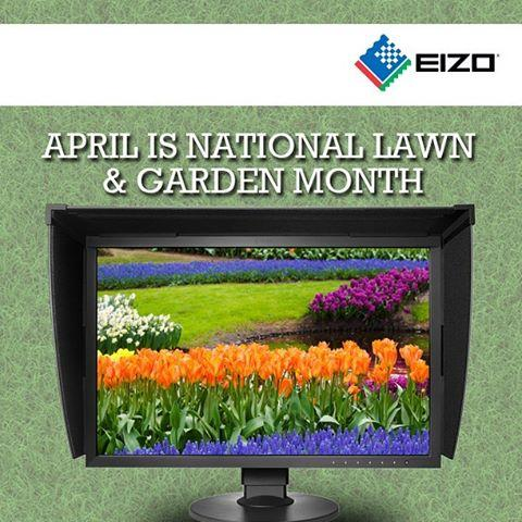 Happy Earth Day and also National Lawn & Garden Month! Here's a fun fact: Not only do our FlexScan monitors deliver optimal performance, but they also have eco-friendly features! Go green! #EIZO #EarthDay